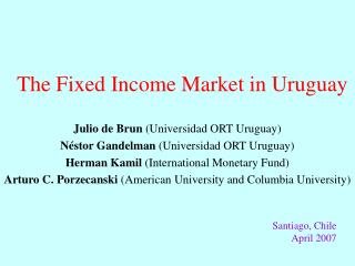 The Fixed Income Market in Uruguay