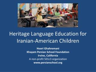 Heritage Language Education for Iranian-American Children