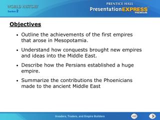 Outline the achievements of the first empires that arose in Mesopotamia.