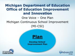 Michigan Department of Education Office of Education Improvement and Innovation