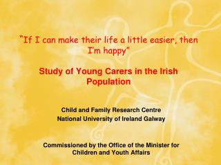 Child and Family Research Centre National University of Ireland Galway