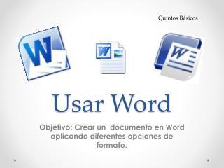 Usar Word