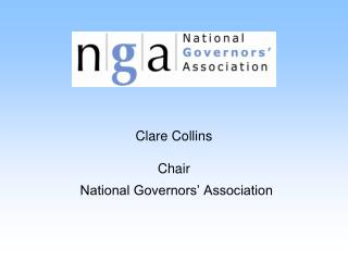 Clare Collins Chair National Governors' Association
