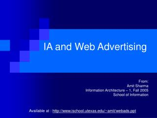 IA and Web Advertising