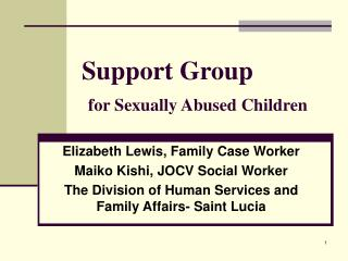 Support Group for Sexually Abused Children
