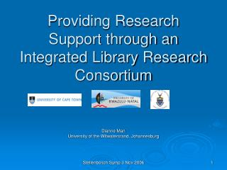 Providing Research Support through an Integrated Library Research Consortium