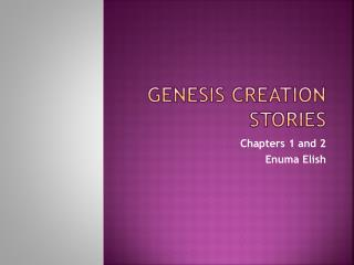 Genesis Creation Stories