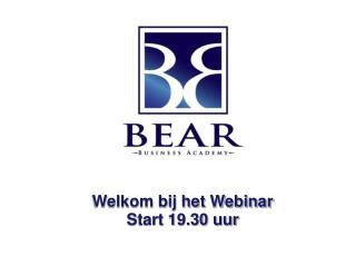 Welkom bij het Webinar Start 19.30 uur