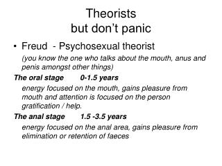 Theorists but don't panic