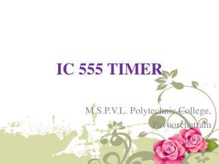 IC 555 TIMER