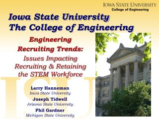 Iowa State University  The College of Engineering