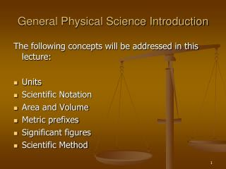General Physical Science Introduction
