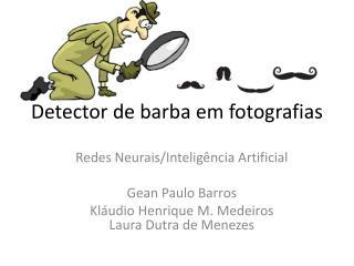 Detector de barba em fotografias