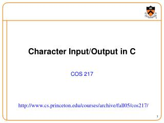 Character Input/Output in C