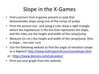 Slope in the X-Games