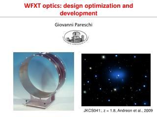 WFXT optics:  design optimization and development