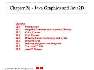 Chapter 28 - Java Graphics and Java2D