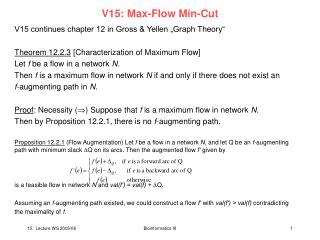 V15: Max-Flow Min-Cut