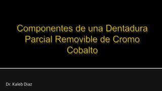 Componentes de una Dentadura Parcial Removible de Cromo Cobalto