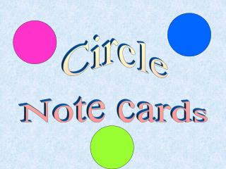 Circle Note cards