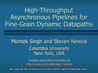 High-Throughput Asynchronous Pipelines for Fine-Grain Dynamic Datapaths