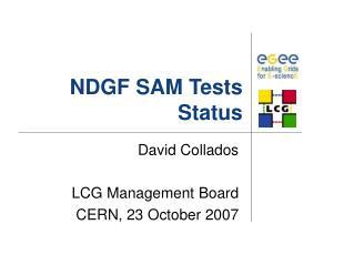 NDGF SAM Tests Status