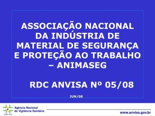 RDC ANVISA nº. 05 de 15.02.08