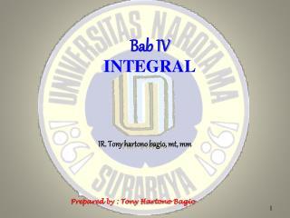 Bab  IV INTEGRAL