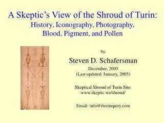 by Steven D. Schafersman December, 2003 (Last updated: January, 2005)