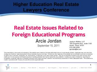 Higher Education Real Estate Lawyers Conference