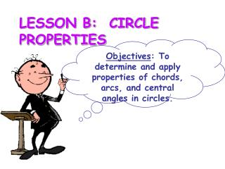 LESSON B:  CIRCLE PROPERTIES