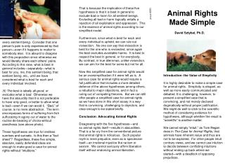 Animal Rights  Made Simple