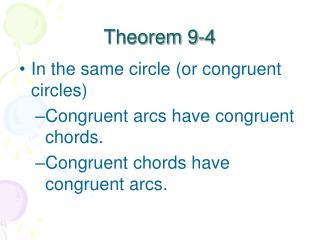 Theorem 9-4