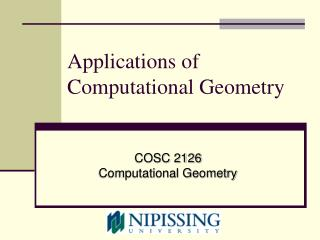 Applications of Computational Geometry