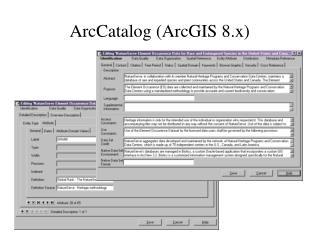 ArcCatalog (ArcGIS 8.x)