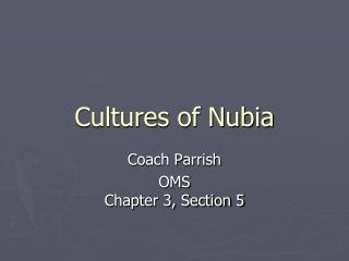 Cultures of Nubia