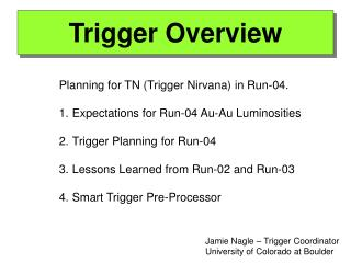 Trigger Overview