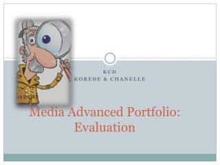 Media Advanced Portfolio: Evaluation