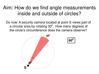 Aim: How do we find angle measurements inside and outside of circles?