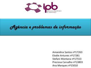 Amandina Santos nº17263 Elodie Antunes nº17281 Stefani  Montana nº17553 Preciosa Carvalho nº13803