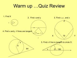 Warm up …Quiz Review
