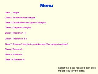 Class 1:  Angles