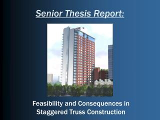 Senior Thesis Report:
