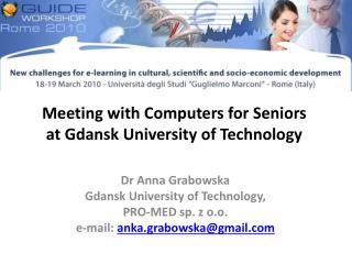 Meeting with Computers for Seniors  at Gdansk University of Technology