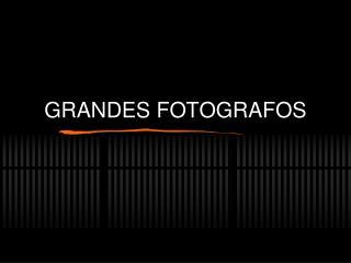 GRANDES FOTOGRAFOS