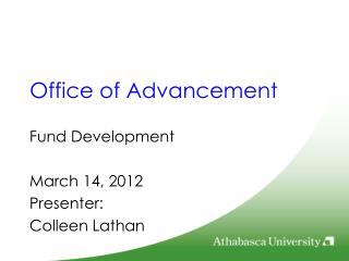 Office of Advancement