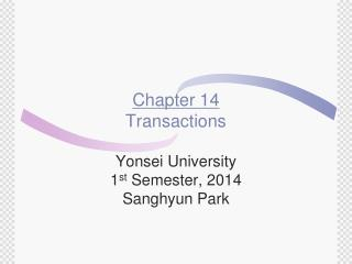 Chapter 14 Transactions