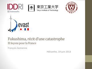 Fukushima, récit d ' une catastrophe Et leçons pour la France