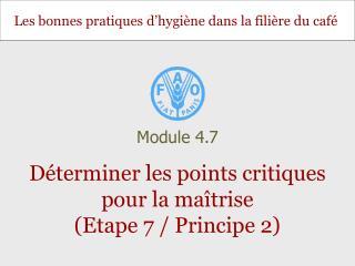 Déterminer les points critiques pour la maîtrise (Etape 7 / Principe 2)