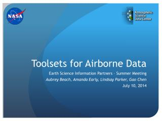 Toolsets for Airborne Data
